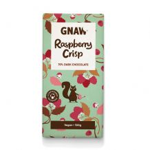 Gnaw Raspberry Crisp Dark Chocolate Bar